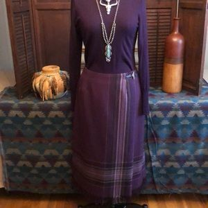 Sag Harbor wrap skirt with leather/ silver clasp